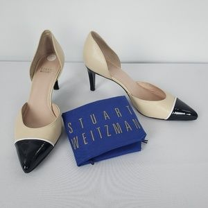 Cream & Black Patent Leather Shoes Size 7.5